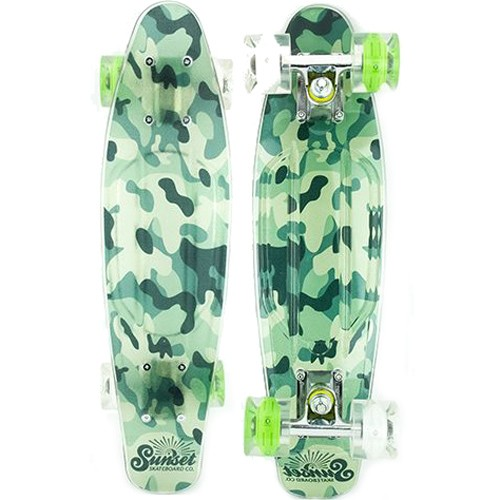 КОМПЛЕКТ СКЕЙТБОРД SUNSET SKATEBOARDS CAMO COMPLETE 27 SS от SUNSET SKATEBOARDS в интернет магазине www.traektoria.ru - 1 фото