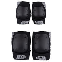 Sector9 PURSUIT - LIGHTWEIGHT ELBOW AND KNEE PAD SET blk