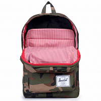 Herschel POP QUIZ MID-VOLUME WOODLAND CAMO/MULTI ZIP