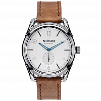 Nixon C39 LEATHER GUNMETAL/CHESTNUT