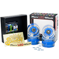 SUNSET SKATEBOARDS CONICAL LONGBOARD WHEEL SET WITH ABEC9 BLUE