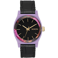 Nixon MEDIUM TIME TELLER LEATHER Magenta/Mix