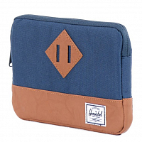 Herschel HERITAGE SLEEVE FOR IPAD MINI Navy/Tan Synthetic Leather
