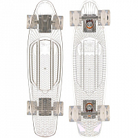 SUNSET SKATEBOARDS GHOST COMPLETE 22 CLEAR DECK - WHITE WHEELS