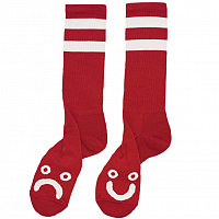 POLAR HAPPY SAD SOCKS RED