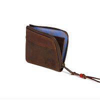 Herschel JOHNNY LEATHER RFID BROWN