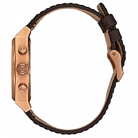 Nixon TIME TELLER CHRONO LEATHER Rose Gold/Gunmetal/Brown