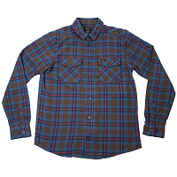 RVCA THAT'LL WORK FLANNEL CHOCOLATE