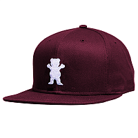 Grizzly OG BEAR SNAPBACK Burgundy / White