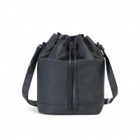Herschel CARLOW BLACK/BLACK VEGGIE TAN LEATHER