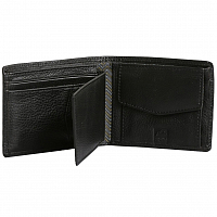 Rusty DEEP RIVER 3 LEATHER WALLET BLACK