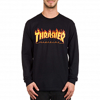 Thrasher FLAME-L/S BLACK