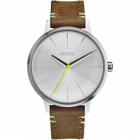 Nixon Kensington Leather BROWN/LIME