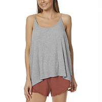 Rusty LUCK RIB TANK GREY MARLE