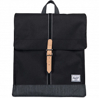 Herschel CITY MID-VOLUME Black/Black Denim