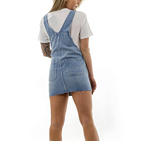 Carhartt WIP W' BIB SKIRT BLUE (LIGHT STONE WASHED)