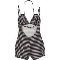 RVCA LOST CAUSE BODYSUIT BLACK
