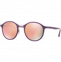 RAY BAN 0RB4242 SHINY VIOLET/BROWN MIRROR PINK