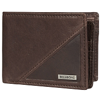 Billabong SPLIT LEATHER WALLET CHOCOLATE