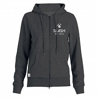 Slash ZIP HOODY BASIC HEATHER CHARCOAL