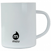 MIZU BURTON CAMP CUP PROCESS SCRIBBLE Glossy White w/ Black Print