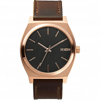 Nixon Time Teller Rose Gold/Gunmetal/Brown