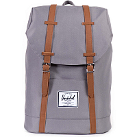 Herschel RETREAT GREY/TAN SYNTHETIC LEATHER