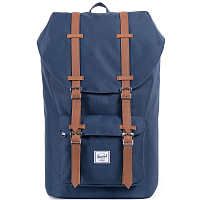 Herschel Little America Mid-Volume Navy/Tan Synthetic Leather