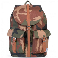 Herschel DAWSON WOODLAND CAMO/TAN SYNTHETIC LEATHER