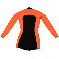 Glidesoul SPRING SUIT 2 MM WITH SHORTS FRONT ZIP Peach/Black