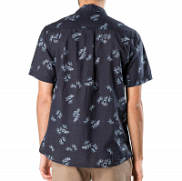 Rusty PALMER LEAF SHORT SLEEVE SHIRT Navy Blue