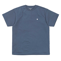 CARHARTT S/S MADISON T-SHIRT STONE BLUE / WHITE