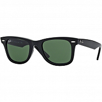 RAY BAN WAYFARER BLACK/CRYSTAL GREEN