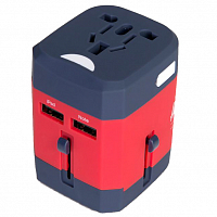 Herschel TRAVEL ADAPTER NAVY/RED