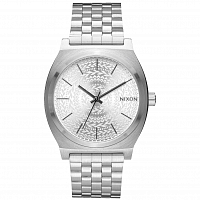 Nixon Time Teller ALL SILVER/STAMPED