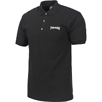 THRASHER POLO LOGO EMBROIDERED BLACK