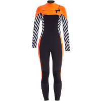 Glidesoul FULL WETSUIT 5MM CHEST ZIP Stripes Print/Black/Peach