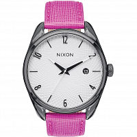 Nixon BULLET LEATHER BLACK/HOT PINK