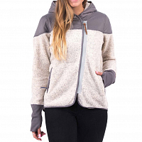 Holden Sherpa Zip Up Oatmeal/Grey