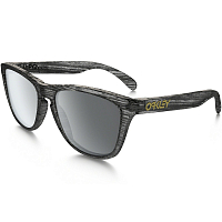 Oakley Frogskins MATTE CLEAR WOODGRAIN/BLACK IRIDIUM