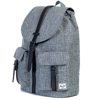 Herschel STUDIO DAWSON X-LARGE RAVEN CROSSHATCH/BLACK PEBBLED LEATHER