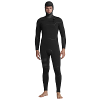 Hurley M ADVANTAGE MAX 5/3 HOODED FULL SUIT BLACK
