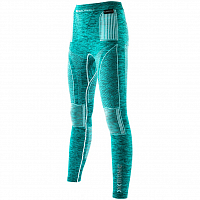 X-Bionic EVO MELANGE UW PANTS LONG Lake Blue Melange/White