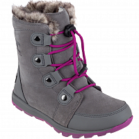 SOREL CHILDRENS WHITNEY SUEDE Quarry, Raspber