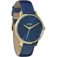 Nixon Kensington Leather BLUE/CHAMPAGNE GOLD PATENT