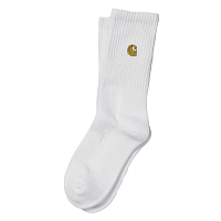 Carhartt WIP CHASE SOCKS WHITE / GOLD