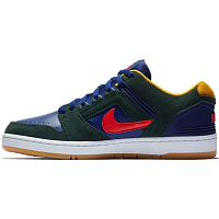 Nike SB AIR FORCE II LOW MIDNIGHT GREEN/HABANERO RED-BLUE VOID