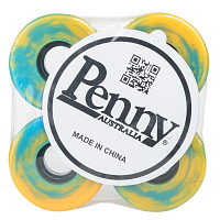 Penny Wheels BLUE/ORANGE SWIRL