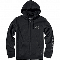 Nixon OXFORD FULL ZIP HOODIE BLACK