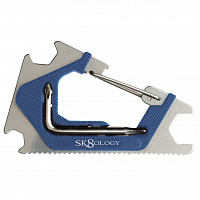 SK8OLOGY CLICK CARABINER TOOL 2.0 BLUE/SILVER